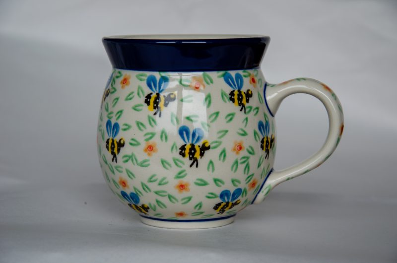 Polish Pottery Medium Mug Bee Pattern