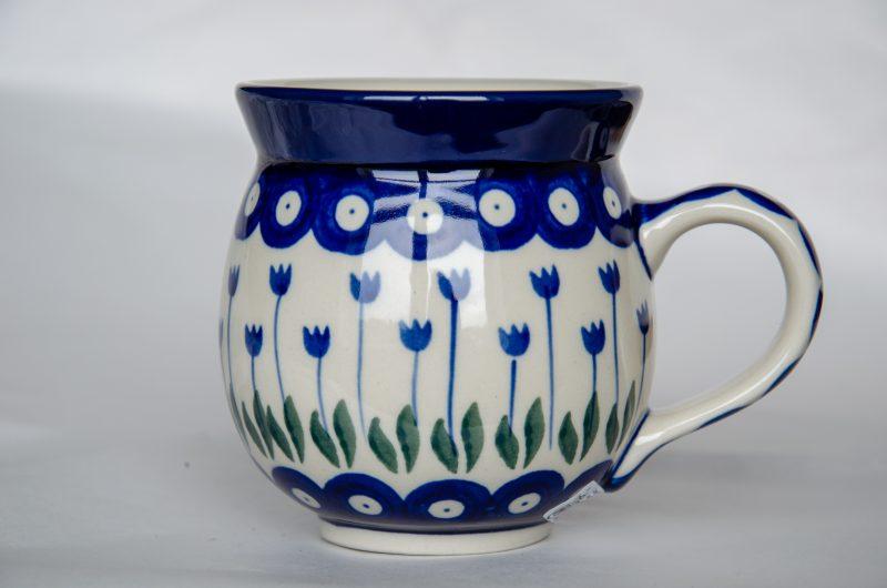 Polish Pottery Flower Spot Mug by Ceramika Artystyczna