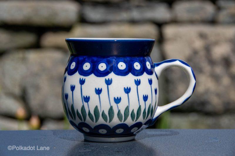Flower Spotty Mug by Ceramika Manufaktura Polish Pottery