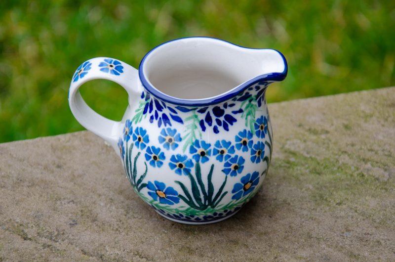 Forget Me Not Small Milk Jug by Ceramika Artystyczna Polish Pottery