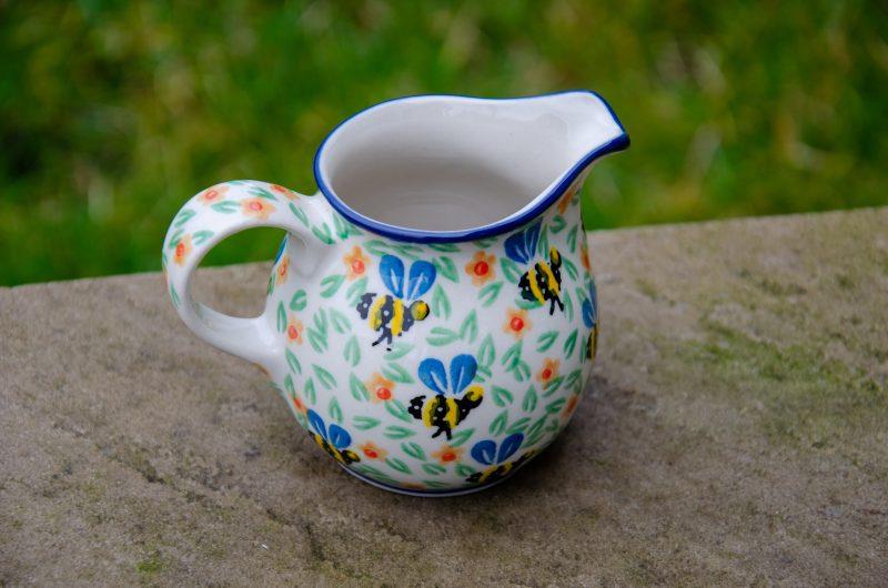 Bee Pattern Small Milk Jug by Ceramika Artystyczna