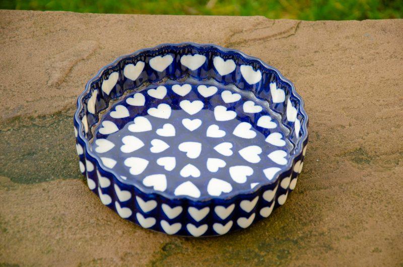 Large Heart Small Flan Dish by Ceramika Artystyczna