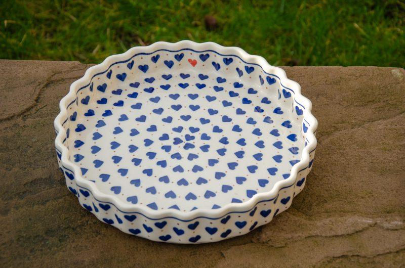 Small Hearts Flan Dish by Ceramika Artystyczna