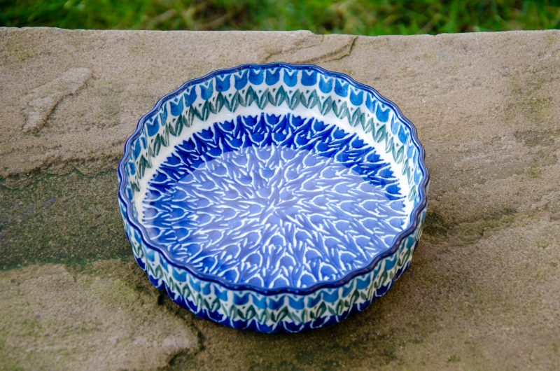 Blue Tulip Small Flan Dish