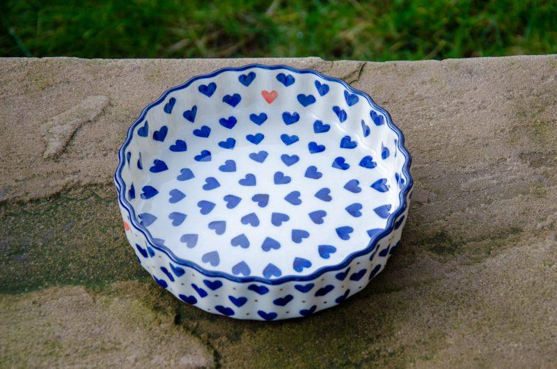 Small Hearts Small Flan by Ceramika Artystyczna