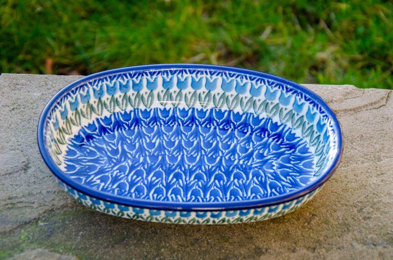 Tulip Field Oval Dish by Ceramika Artystyczna