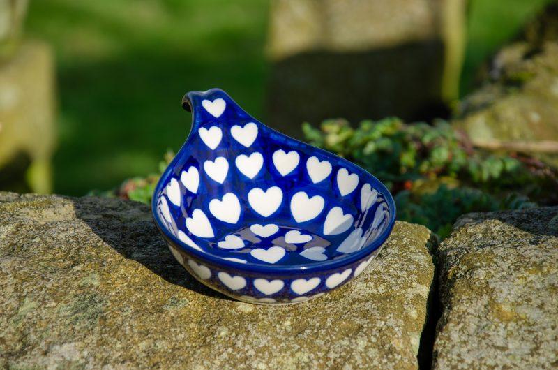 Large Heart Nibble Dish by Ceramika Artystyczna