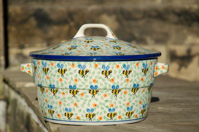 Bee Pattern Casserole Dish by Ceramika Artystyczna