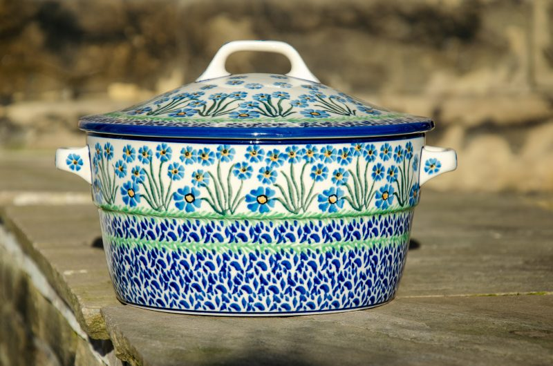 Forget Me Not Casserole Dish by Ceramica Artystyczna