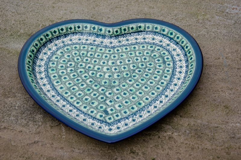 Green Diamond Heart Shaped Plate
