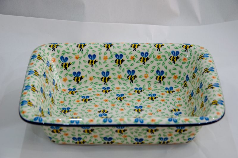 Bee Pattern Oven Dish With Rim