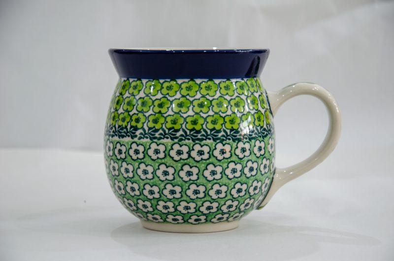 Green Meadow Large Round Mug by Ceramika Artystyczna.