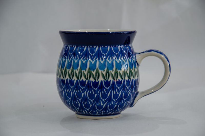 Blue Tulip Mug by Ceramika Artystyczna