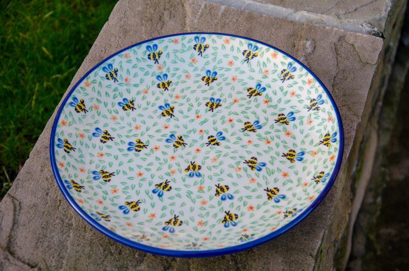 Bee Pattern Dinner Plate by Ceramika Artystyczna