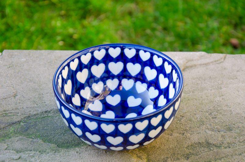 Large Heart Cereal Bowl by Ceramika Artystyczna