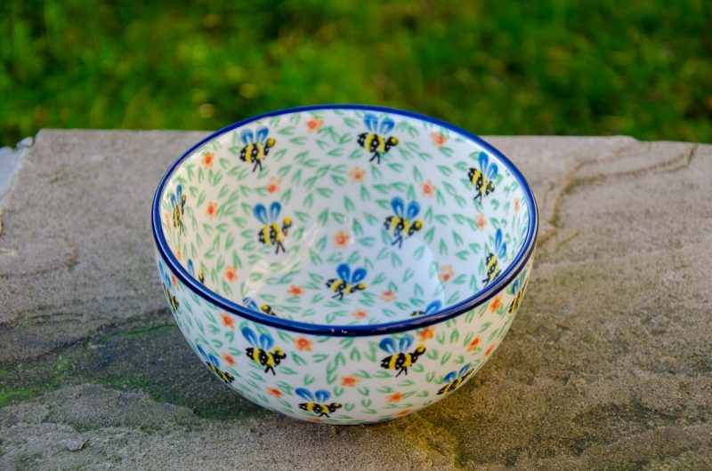 Bee Pattern Cereal Bowl by Ceramika Artystyczna
