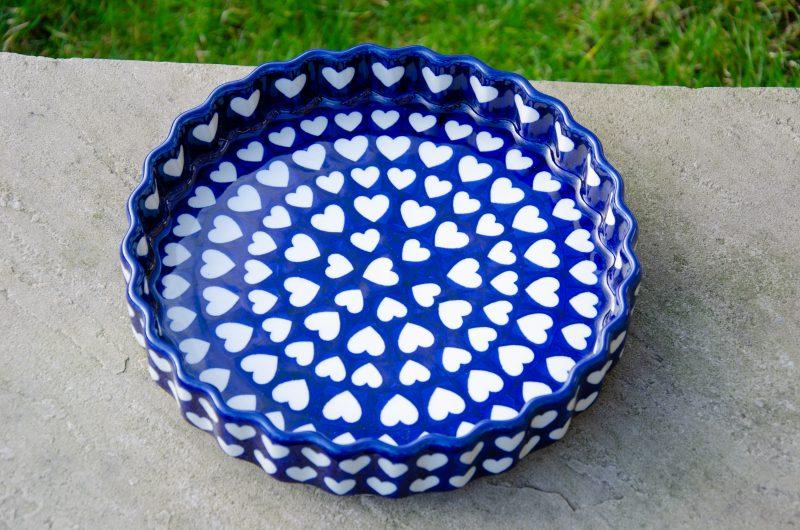Large Heart Flan Dish by Ceramika Artystyczna