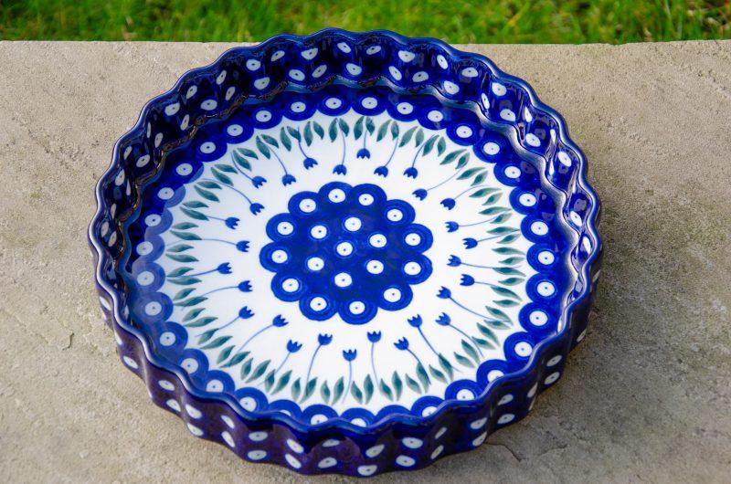 Flower Spot Flan Dish by Ceramika Artystyczna