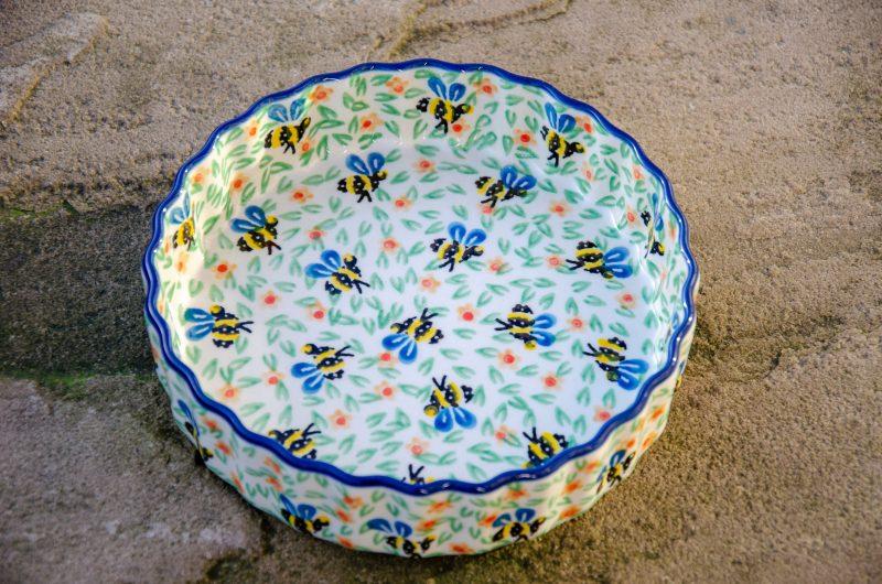 Bee Small Flan Dish by Ceramika Artystyczna