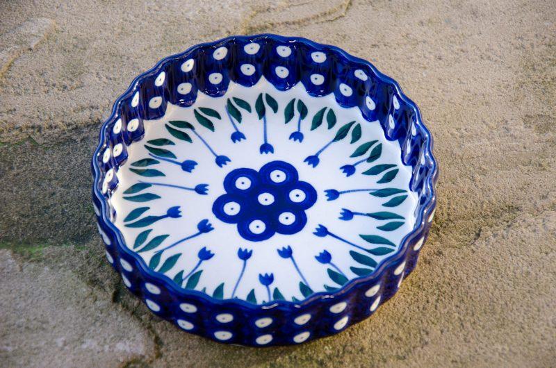 Flower Spot Small Flan Dish by Ceramika Artystyczna