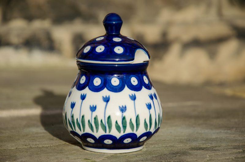 Flower Spot Sugar Bowl by Ceramika Artystyczna
