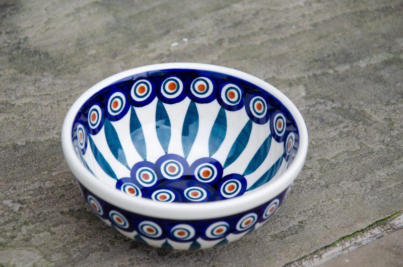 Peacock Leaf Cereal Bowl by Ceramika Manufaktura