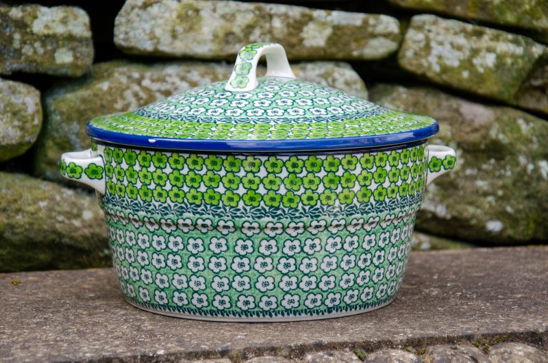 Green Meadow Casserole Dish With Lid from Polkadot Lane UK