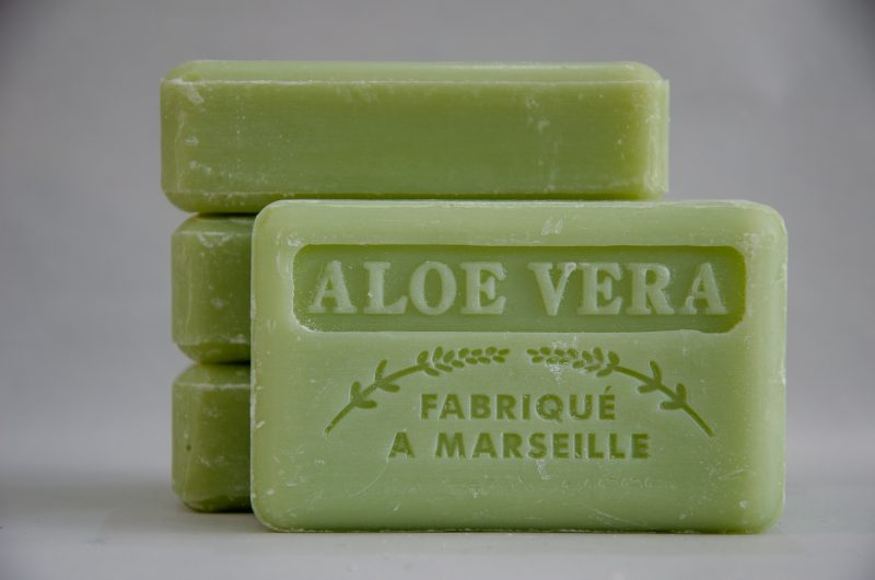 Savon de Marseille French Soap Aloe Vera from Polkadot Lane UK. 125g bars.