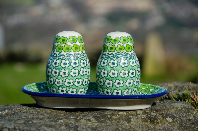 Green Meadow Salt and Pepper Shakers