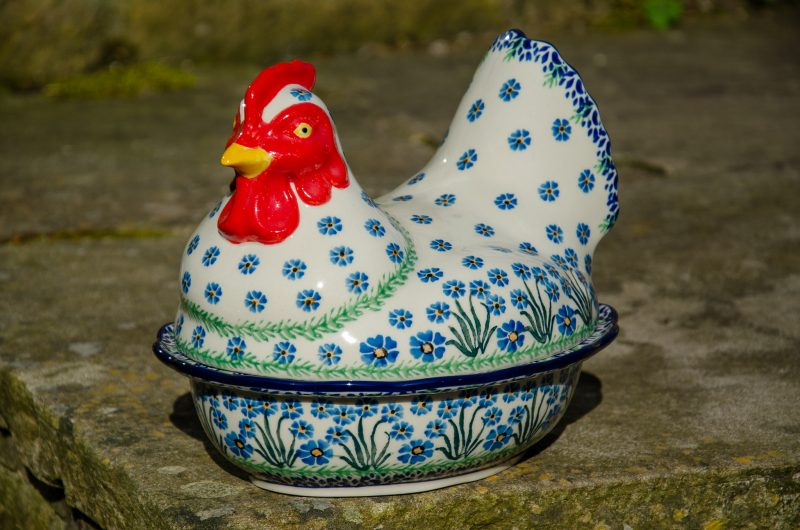 Forget Me Not Hen Egg Container