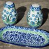 Forget Me Not Ceramika Artystyczna Salt and Pepper Set from Polkadot Lane UK