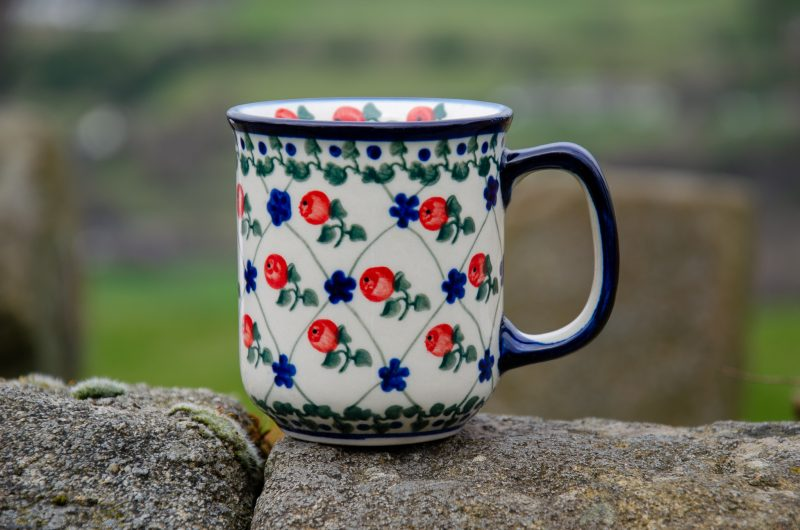 Red Merry Mug Ceramika Millena
