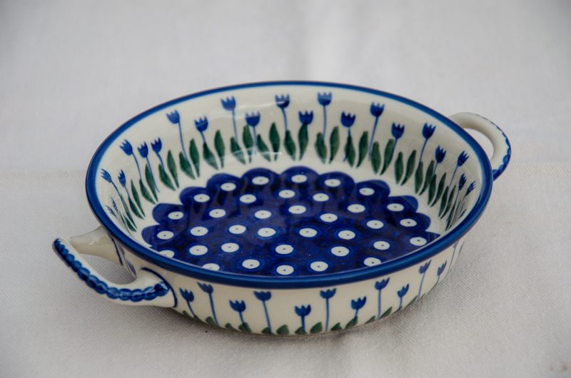 Flower Spot Round Dish With Handles Flower Spot