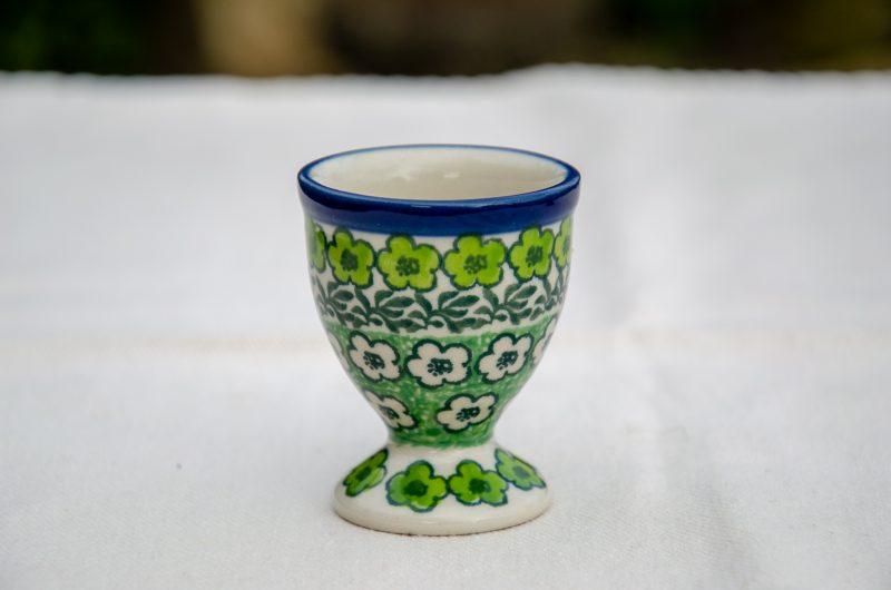 Green Meadow Egg Cup by Ceramika Artystyczna