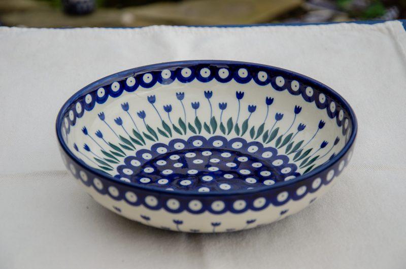Flower Spot Shallow Serving Bowl