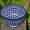 Polish Pottery Large Heart Pattern Large Bowl