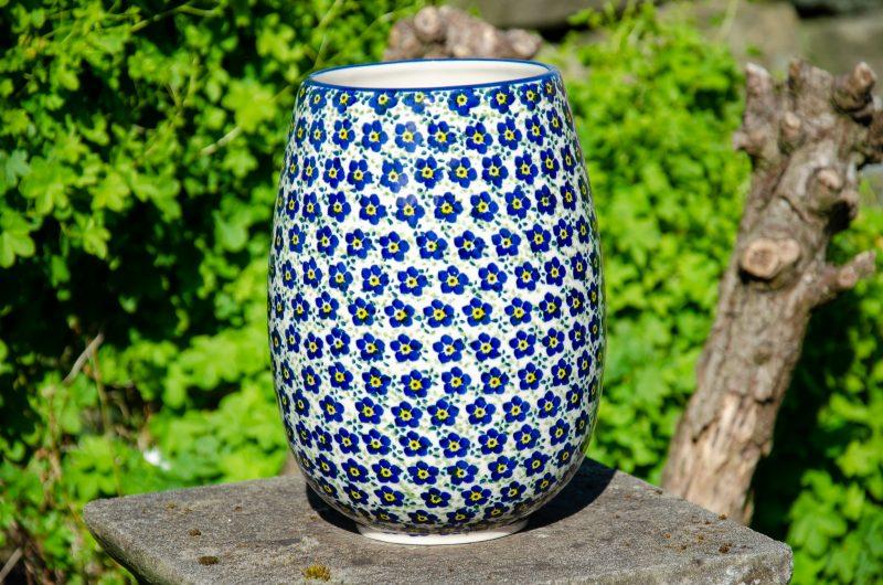 Ditzy Blue Flower Vase by Ceramika Manufaktura