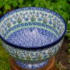 Forget Me Not Large Bowl by Ceramika Artystyczna