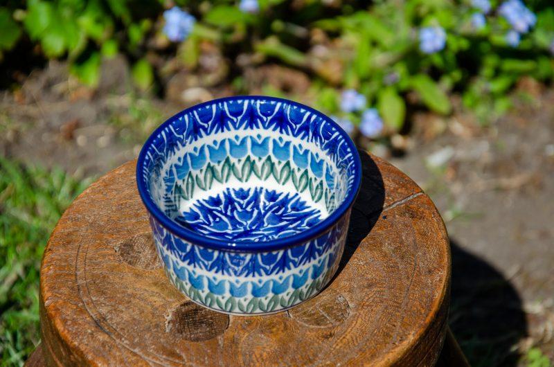 Blue Tulip Ramekin by Ceramika Artystyczna