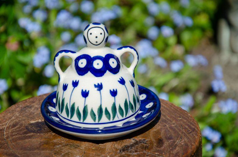 Flower Spot Pattern Small Cheese Lady by Ceramika Artystyczna