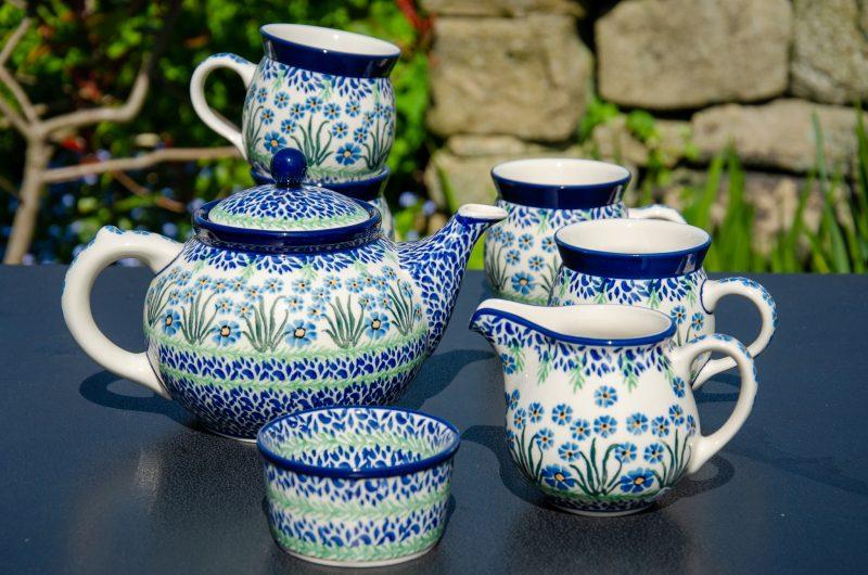 Forget Me Not Tea Set by Ceramika Artystyczna