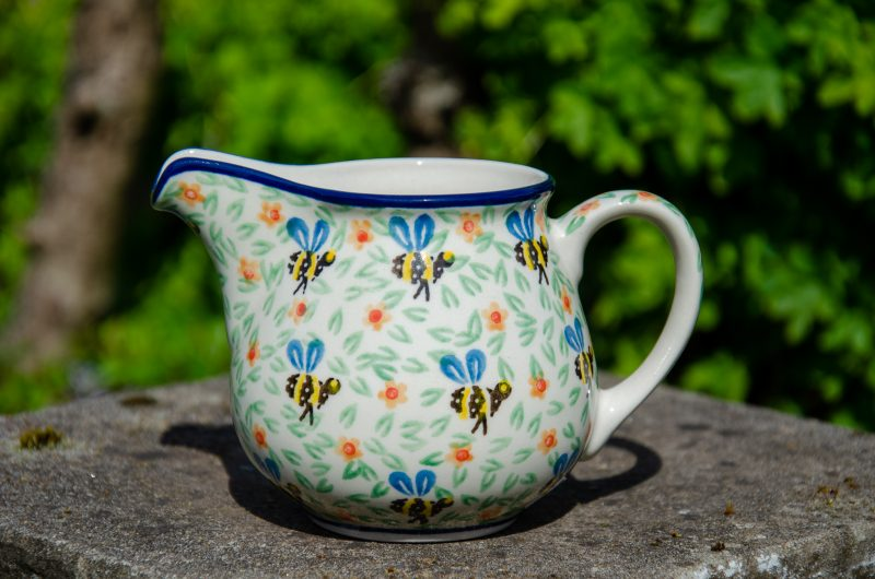 Bee Pattern Milk Jug by Ceramika Artystyczna