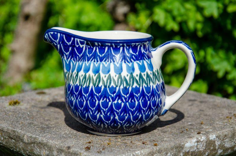 Blue Tulip Milk Jug by Ceramika Artystyczna