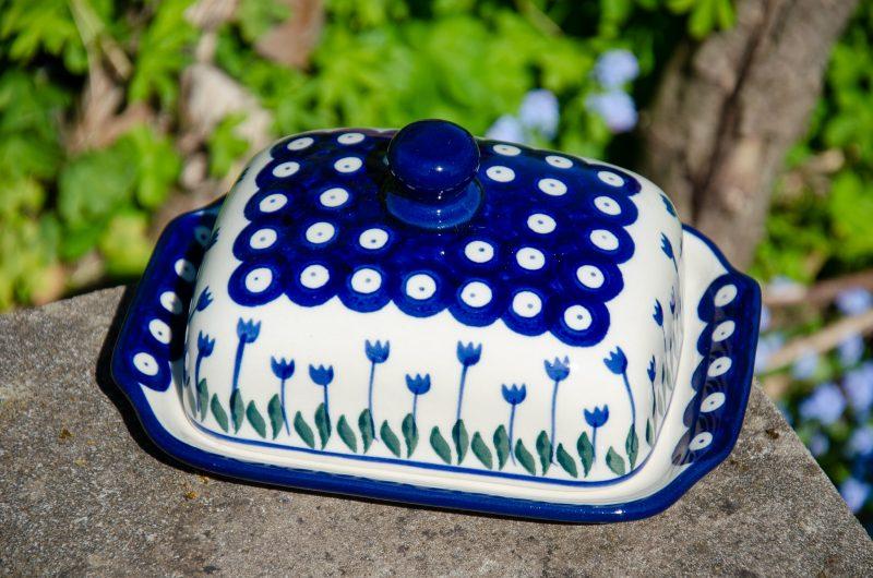 Flower Spot Butter Dish Ceramika Artystyczna from Polkadot Lane