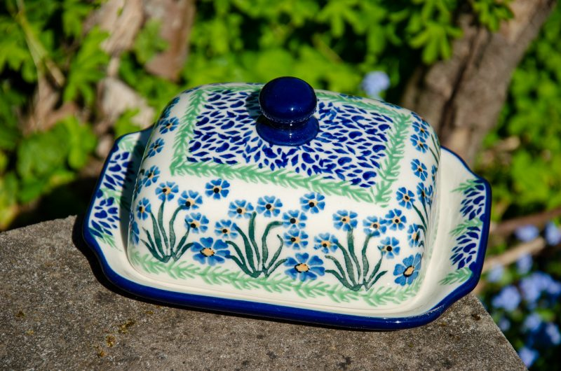 Forget me Not Butter Dish from Polkadot Lane UK
