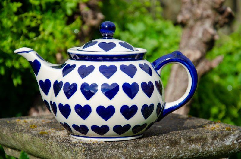 Blue Heart Teapot from Polkadot Lane UK.
