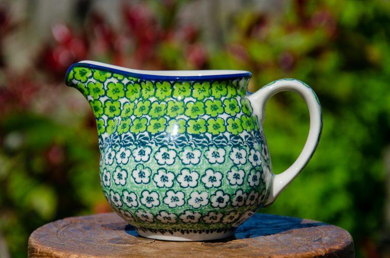 Green Meadow Milk Jug by Ceramika Artystyczna