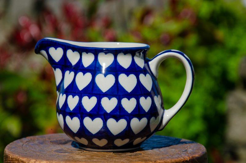 Large Heart Milk Jug by Ceramika Artystyczna