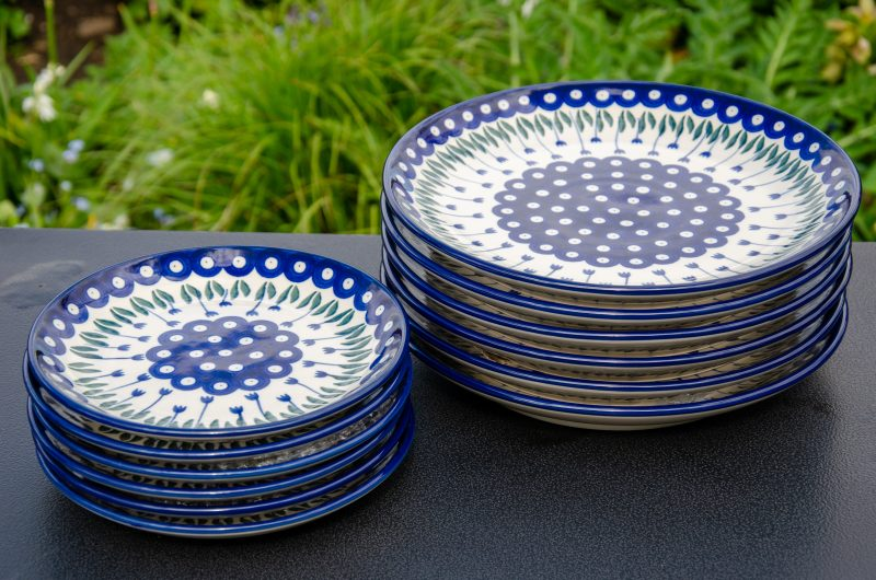Flower Spot Plate Set Dinner and Side Plates from Polkadot Lane
