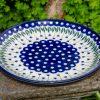 Polish Pottery Flower Spot Dinner Plate from Polkadot Lane UK